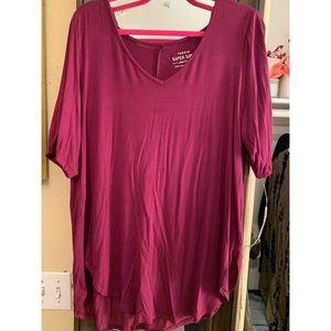Half-Sleeve burgundy top
